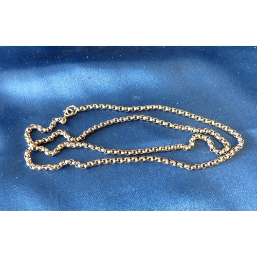 431 - A 9ct Gold Linked Chain, 57cm long 8.8gms...