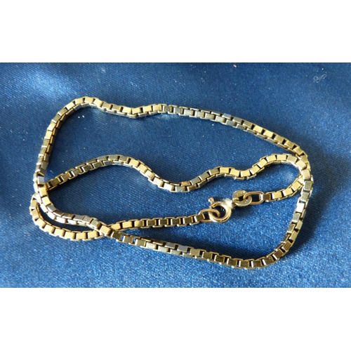 432 - A 9ct Gold Square Linked Chain 38cm long, 13.4gms...