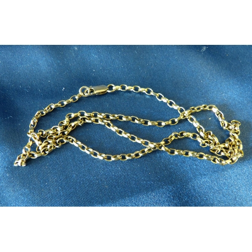 433 - A Gold Linked Chain, 55cm long, 11.1gms...