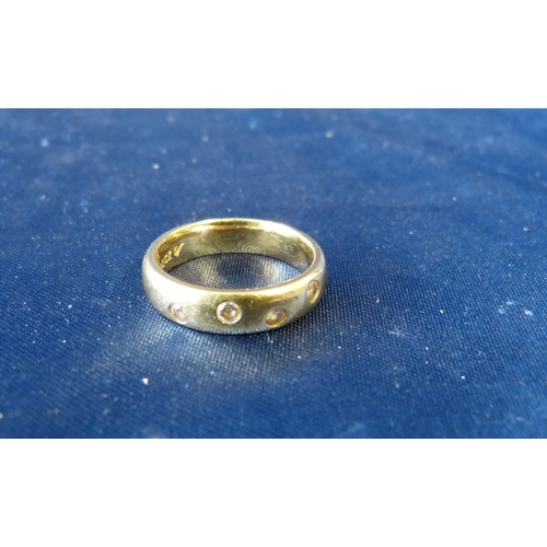 434 - A 925 Silver Gilt Ring set with 4 stones...