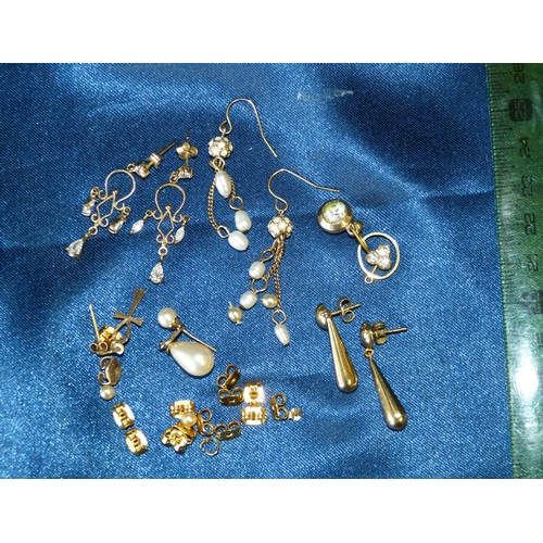 474 - A Pair of 9ct Gold Drop Earrings and 2 other pairs of drop earrings...