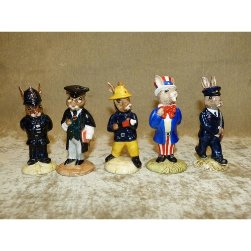 52 - 5 Royal Doulton Bunnykins Figures