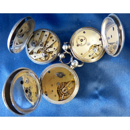 528 - A Muret Silver Fob Watch and 2 other silver fob watches (3)...