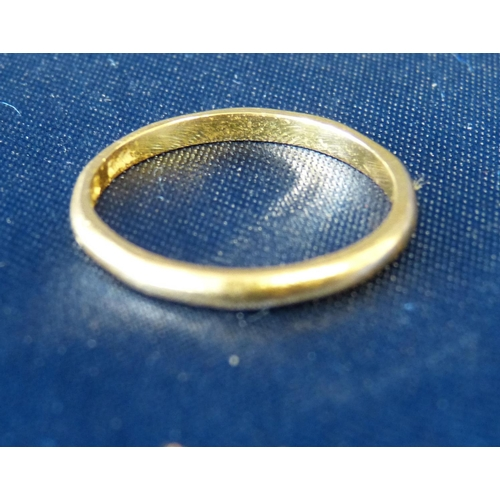 551 - A 22ct Gold Wedding Ring, 2.2gms...