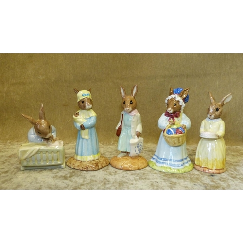 57 - 5 Royal Doulton Bunnykins Figures