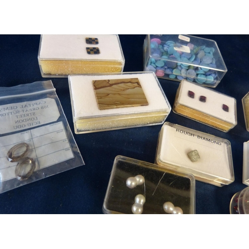 572 - A Quantity of Various Cased Gemstones including pearls, cameos etc...