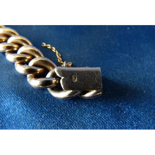 601 - A Gold Hollow Linked Bracelet, 22.7gms...