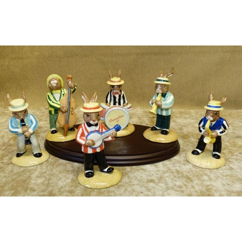 61 - A Set of 6 Royal Doulton Bunnykins Jazz Bands