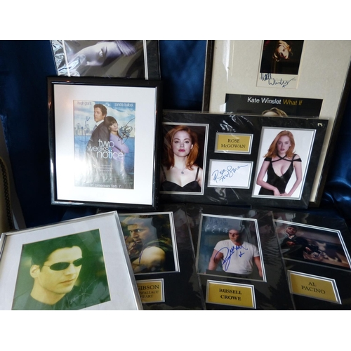 622 - 8 x Various Framed/Mounted Autographed Pictures