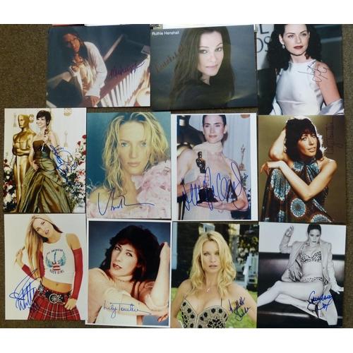 623 - A Quantity of Various Unframed Autographed Photographs etc