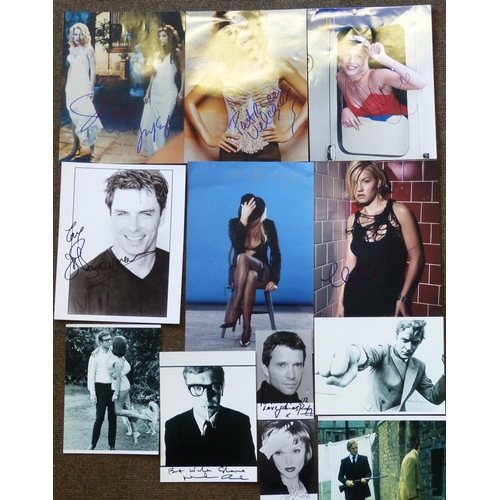 623 - A Quantity of Various Unframed Autographed Photographs etc