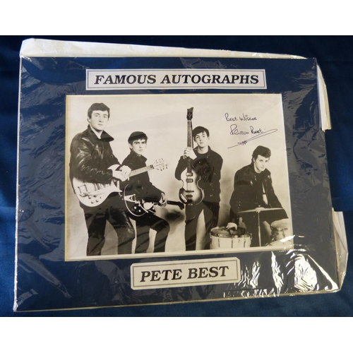 626 - An Autographed Black and White Photograph signed