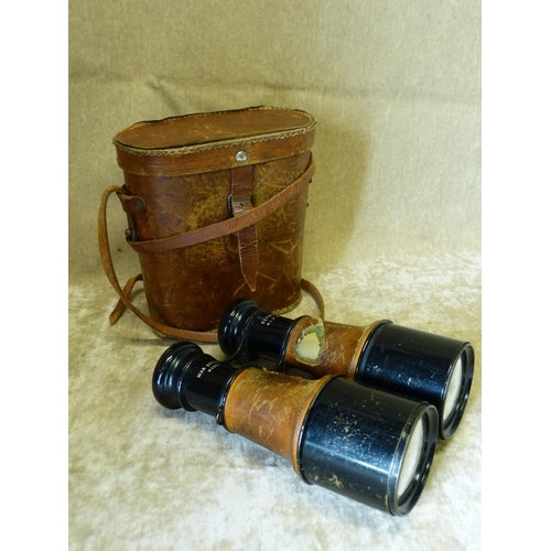 631 - A Pair of Octopus War Office Model Binoculars with leather carrying case...