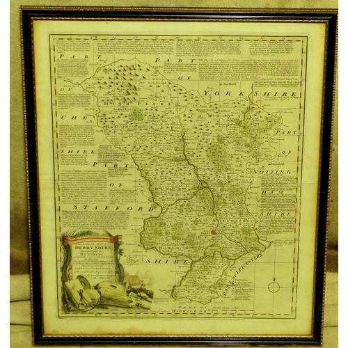 645 - Eman Bowen 18th Century Hand Coloured Map