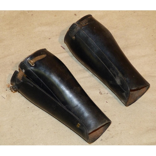 648 - A Pair of Leather Riding Leg Supports, 30cm high...