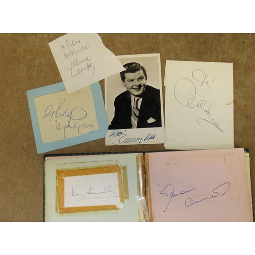 662 - An Autograph Album of Cliff Richard, Diana Dors, Adam Faith, Peter May, Benny Hill etc...