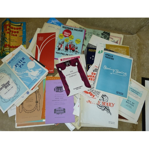 663 - A Quantity of Various Theatre Programmes etc...