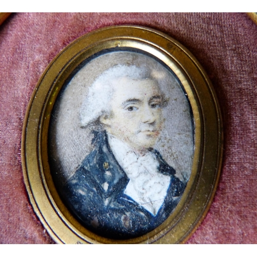 685 - A 19th Century Oval Miniature Shoulder Length Portrait