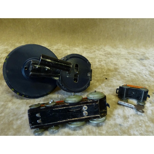 739 - CKO Miniature Continental Clockwork Engine with tender etc (2)...