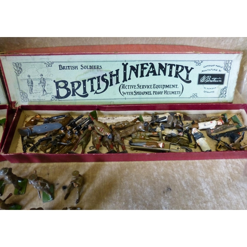 759 - A Quantity Britians Lead British Infantry and Territorial Army with 2 boxes...