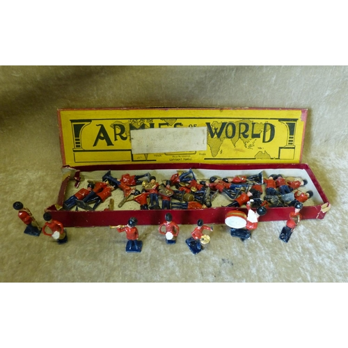 762 - A Quantity of Britians Lead Military Band Figures, with odd box...