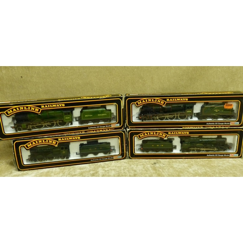 779 - 4 Mainline Locomotives with tenders 45532, 7819, 3205 & 45540 all boxed...