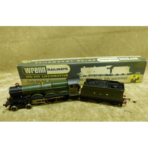 788 - A Wren 00 Gauge Locomotive W2222 4-6-0 Castle, boxed...