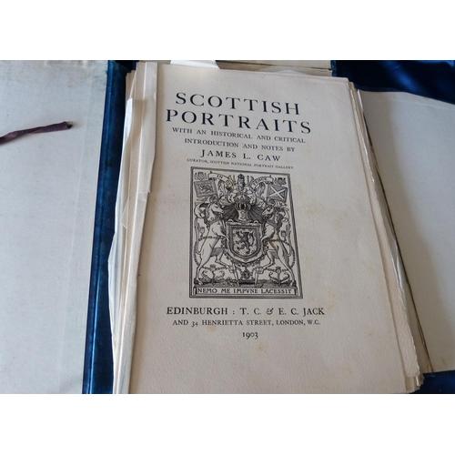 832 - 2 x Portfolios Scottish Portraits, Edited by James L Caw, circa 1903...