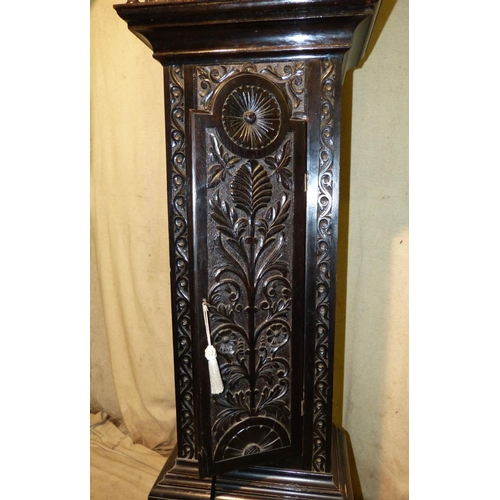 837 - James.B Banks, Runcorn Large Carved Oak Westminster Chime on Bells 8 Day Striking Longcase Clock hav...