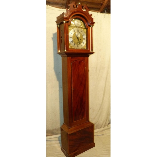 838 - William Nickals, Wells 19th Century 8 Day Striking Longcase Clock having carved swan neck cornice, b...