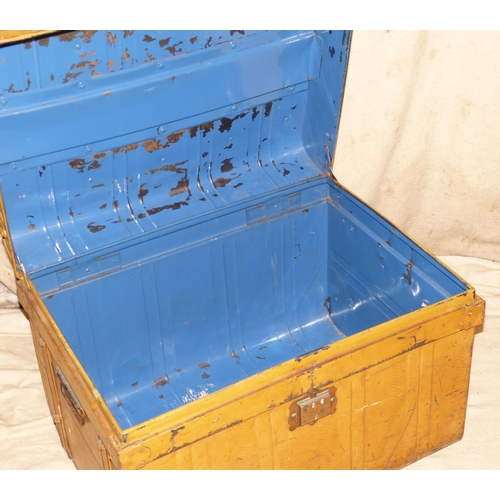 888 - A Tin Rectangular Trunk, 71cm wide...