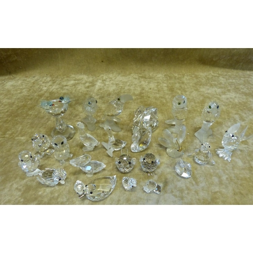 90 - 24 x Swarovski Crystal Birds and Butterflies...