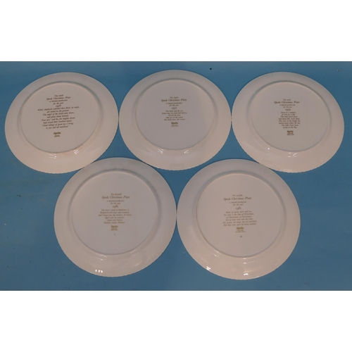 52 - 10 x Spode Christmas Plates, 1970/72/74-1981 (all boxed except 2.)...