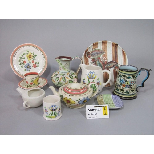 1 - A collection of Denby wares including examples designed by Glyn Colledge including a plate with brow...