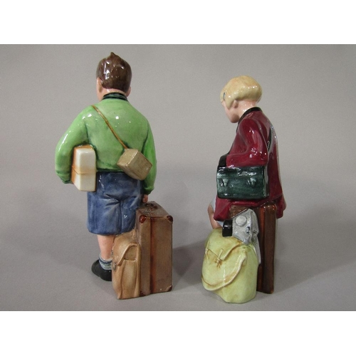 13 - A pair of Royal Doulton limited edition figures The Boy Evacuee HN3202 and The Girl Evacuee HN3203 (...