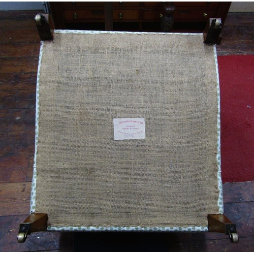 1457 - A Howard drawing room chair - late 20th century,back leg stamped Howard 2496 with further printed la...