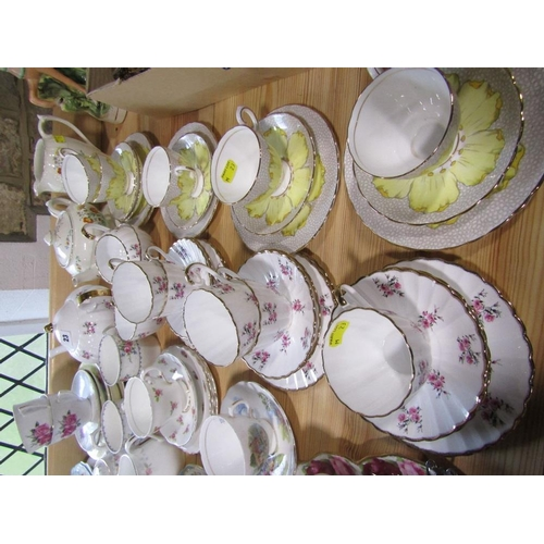 23 - An extensive collection of decorative teawares including examples by Tuscan china,Royal Albert,Booth...
