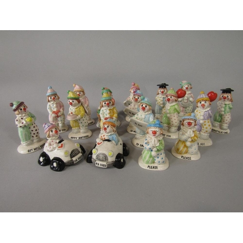 24 - A collection of eighteen Beswick Little Lovables figures with various inscriptions including Happy B...