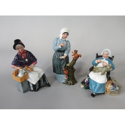 5 - Three Royal Doulton figures Nanny HN221,New Companions HN2770 and Good Friends HN2783 (3)...