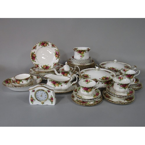 51 - A collection of Royal Albert Old Country Roses pattern wares comprising pair of tureens and covers,s...