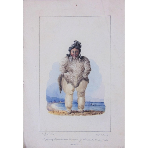 651 - Admiral Sir George Back RN,FRS (British 1796-1878) A Young Esquimaux Woman of the Tribe of the McKen...