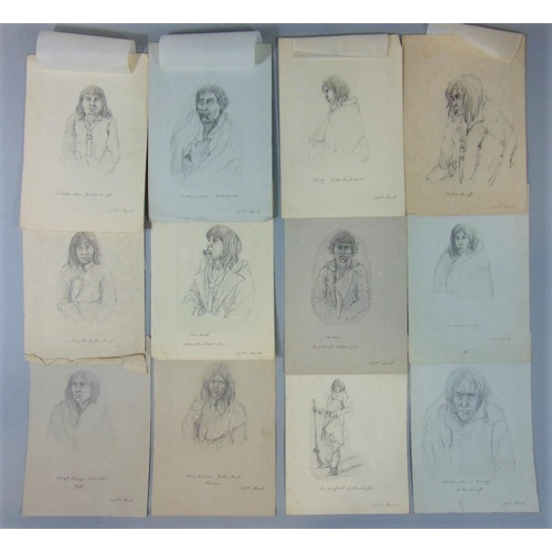 653 - Admiral Sir George Back,RN,FRS (British 1796-1878) a collection of twelve portrait studies of male a...