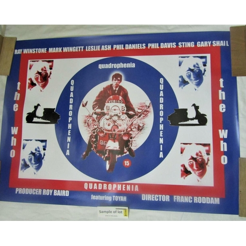 A studio quality film promo posture for Quadrophenia together with further promotional film posters including Frozen 2, The Grinch (2008), etc (5)