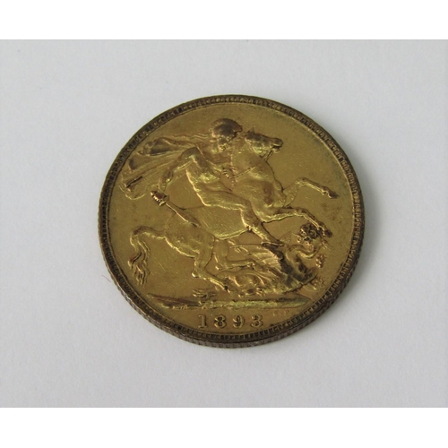 Sovereign dated 1893