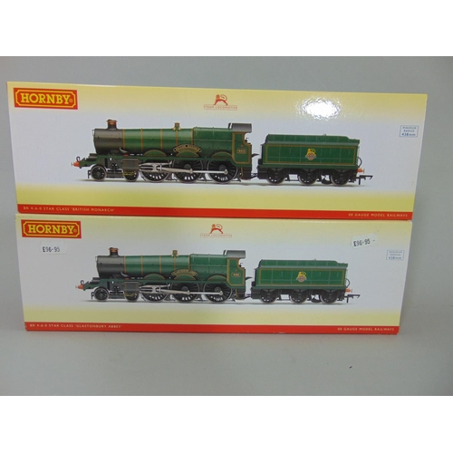 57 - 2 Hornby Locomotives with tenders: R3167 BR 4-6-0 Star Class 'Glastonbury Abbey' and R3229 BR 4-6-0 ...
