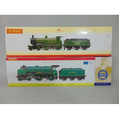 58 - 2 Hornby Locomotives with tenders: R2711 SR 4-4-0 class T9 729 and R2827 SR 4-4-0 Schools class 'Che...