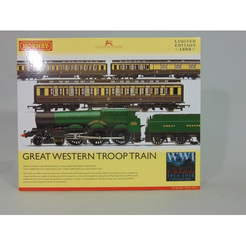 1 - Hornby 'Great Western Troop Train' R3219 box  set, limited edition, including 4-6-0 'Princess Alice'...
