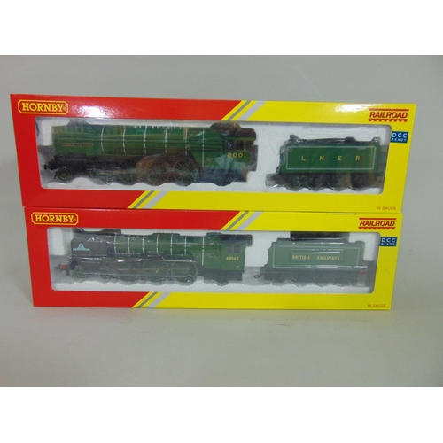 16 - 2 boxed Hornby locomotives with tenders: R3060 Tornado BR Class A1 '60136' and R3171 Class 2, 'Cock ...