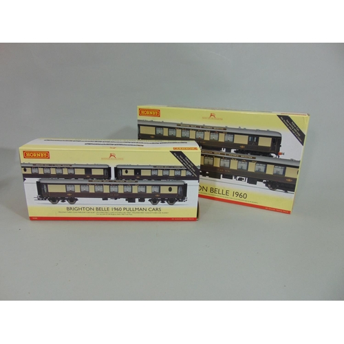 32 - 2 Hornby 00 gauge packs: Brighton Belle 1960 includes Pullman Car 91 (powered) and Car 92, and Brigh...