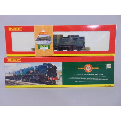 51 - 2 boxed  Hornby Locomotives: R2169 BR 4-6-2 'Clan Line' Merchant Navy class and R2143 GWR 2-6-2T 61X...
